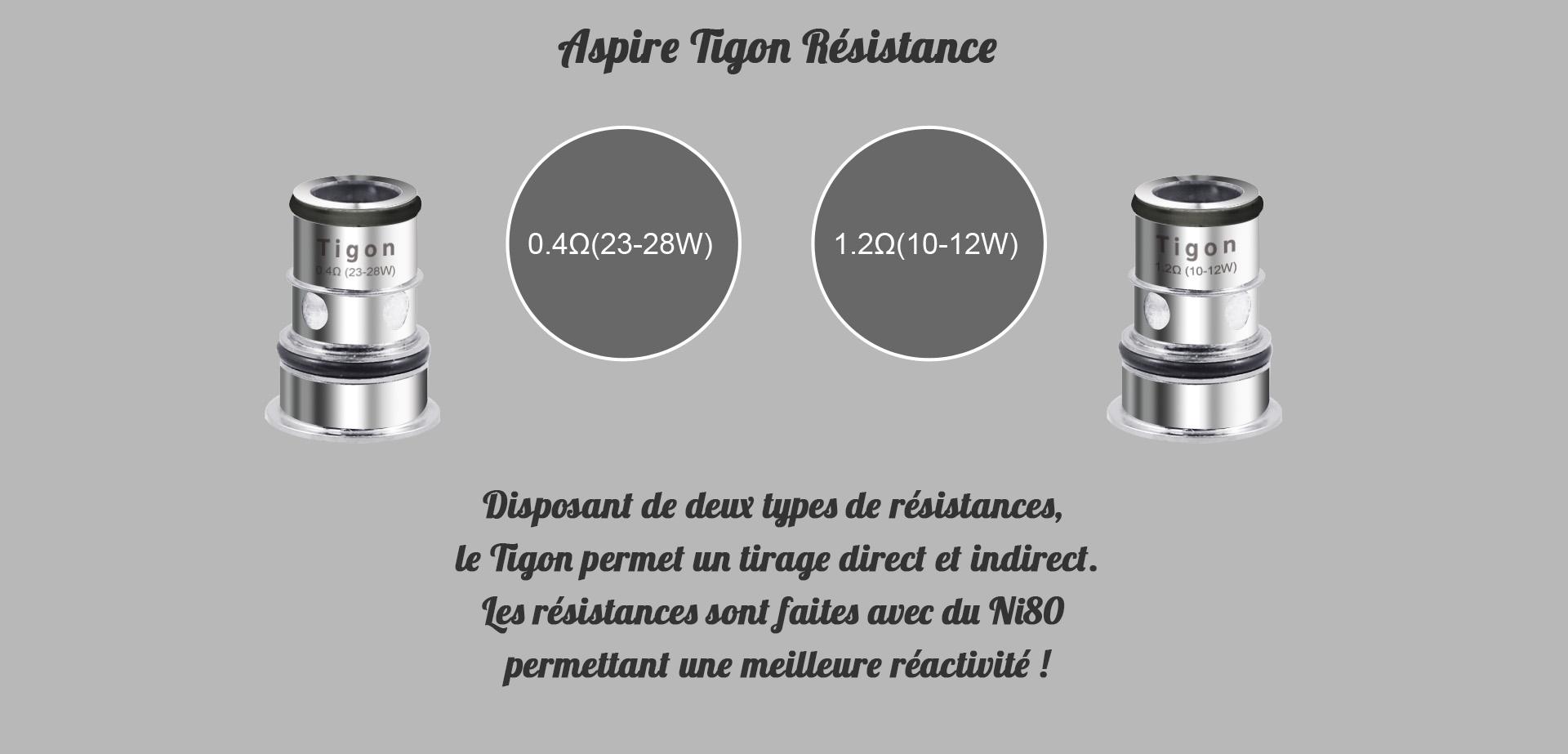 Aspire Tigon Clearomiseur résistances